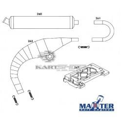 Eclaté échappement et platine moteur MAXTER MXO/MXS
