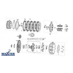 Eclaté partie embrayage moteur MAXTER MXO/MXS
