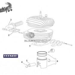 Eclaté haut moteur IAME KFS 100