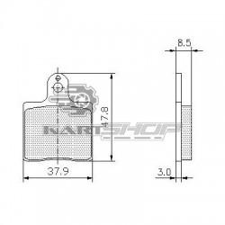 Plaquettes de frein AV ou AR CRG UP adaptable