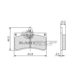 Plaquettes de frein AR CRG VEN 04 adaptable