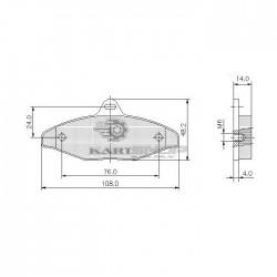 Plaquettes de frein AR CRG longue frein mécanique