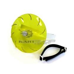 """Visière rotative pluie jaune """"Turbo Visor"""""""